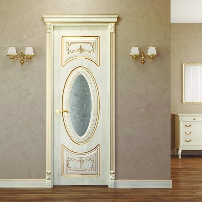 Дверь Примавера стекло с росписью с 1-й стороны Геона ...